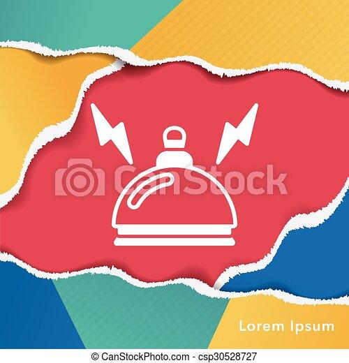El ícono de la campana del hotel - csp30528727