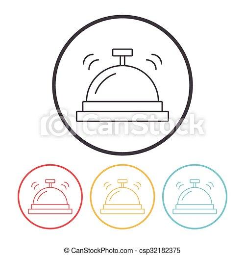 El ícono de la campana del hotel - csp32182375