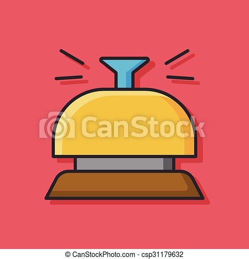 El ícono de la campana del hotel - csp31179632