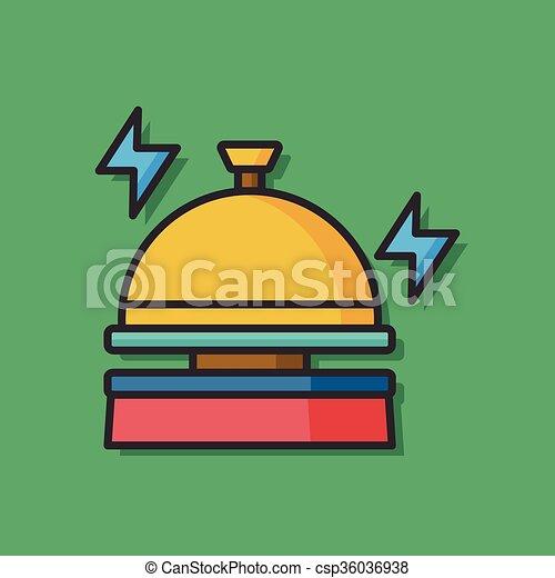 El icono vector del hotel Bell - csp36036938