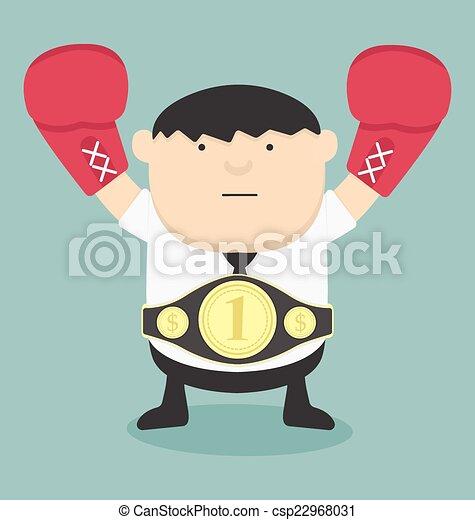 Campeón de negocios, gordo - csp22968031