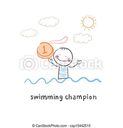 Campeón de natación - csp15442515