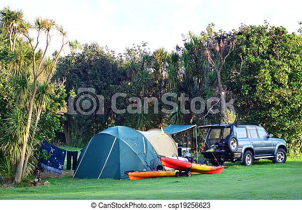 campeggio, conservazione, maitai, baia - csp19256623