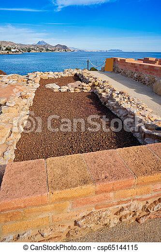 Campello iberian settlement in illeta Alicante - csp65144115