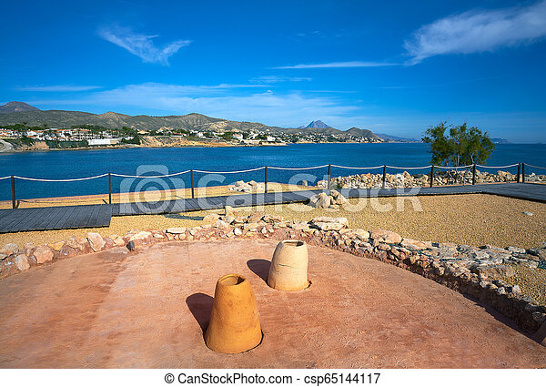 Campello iberian settlement in illeta Alicante - csp65144117