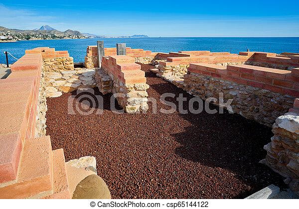 Campello iberian settlement in illeta Alicante - csp65144122