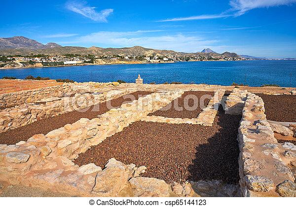 Campello iberian settlement in illeta Alicante - csp65144123