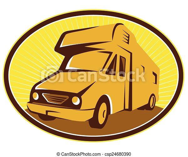 camper van front illustration of camper van mobile home eps rh canstockphoto com  mobile home clip art free