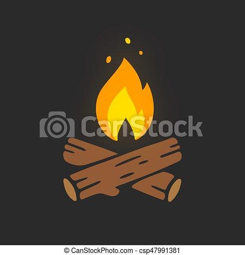 Campfire logo illustration - csp47991381