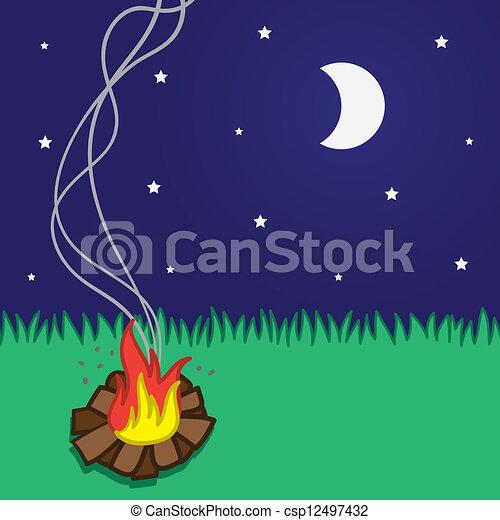 Campfire Small  - csp12497432