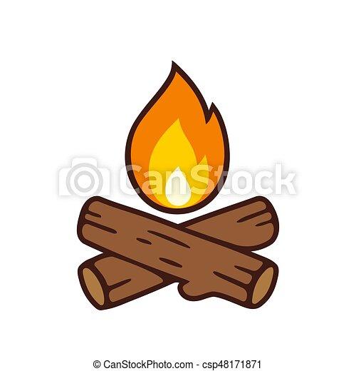 Campfire vector icon - csp48171871