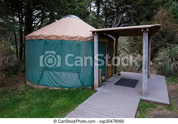 Campground Yurt on Oregon Coast - csp35478060