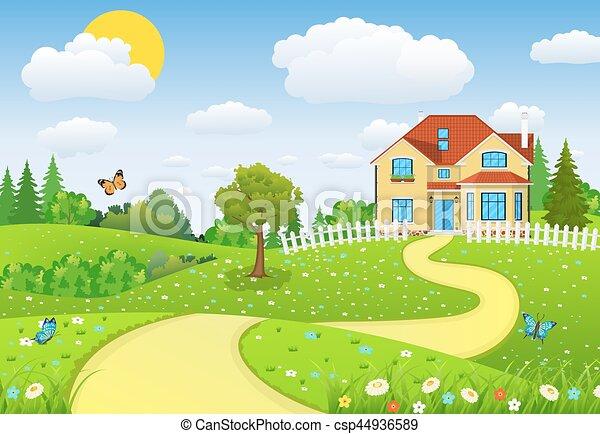 campi, colline, paesaggio, rurale - csp44936589