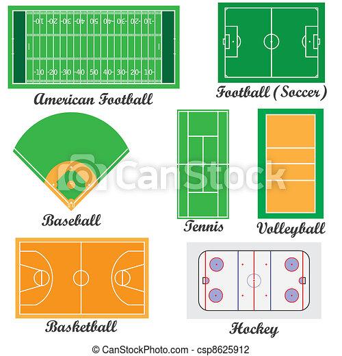 campi, set, sport, games. - csp8625912