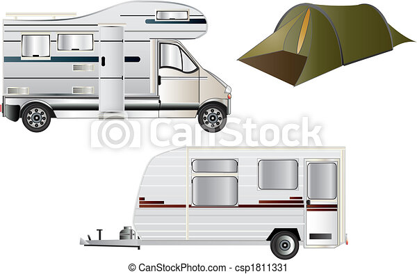 Camping and Caravans - csp1811331