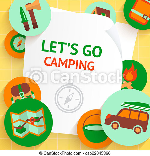 Camping Background Template Adventure Recreation Outdoor