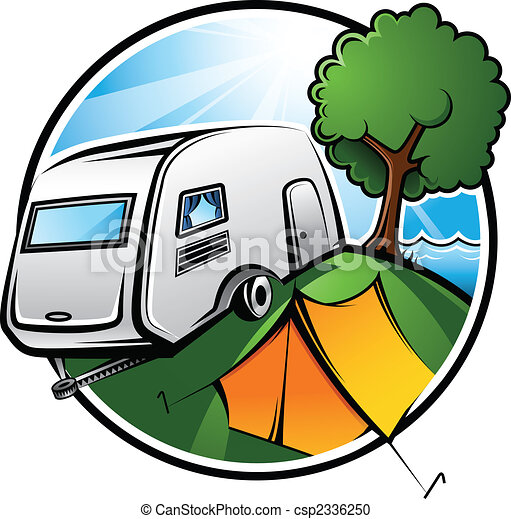 camping, bereich - csp2336250