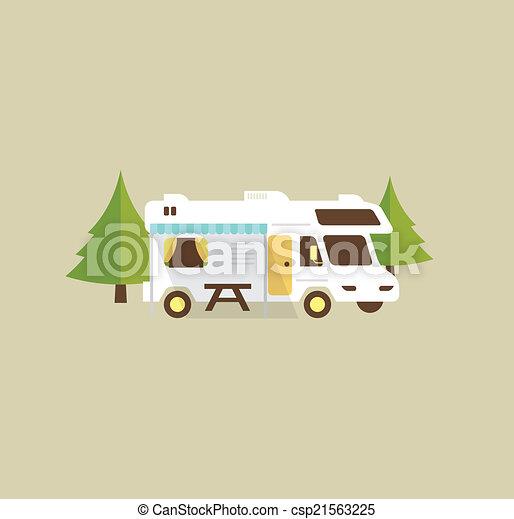 camping car, camping - csp21563225