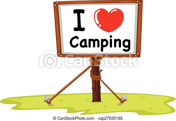 i love camping in wooden sign clip art vector search drawings and rh canstockphoto com