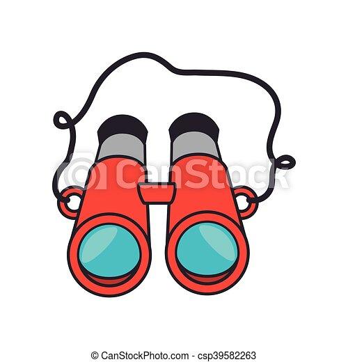 camping equipment binoculars camping equipment red clip art rh canstockphoto com binoculars clipart binoculars clipart