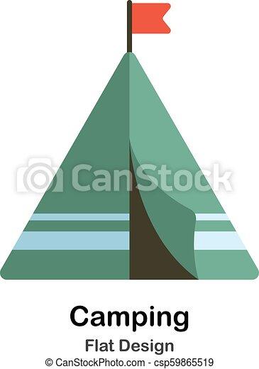 Camping Flat Illustration - csp59865519