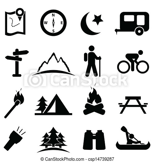 Camping icon set - csp14739287