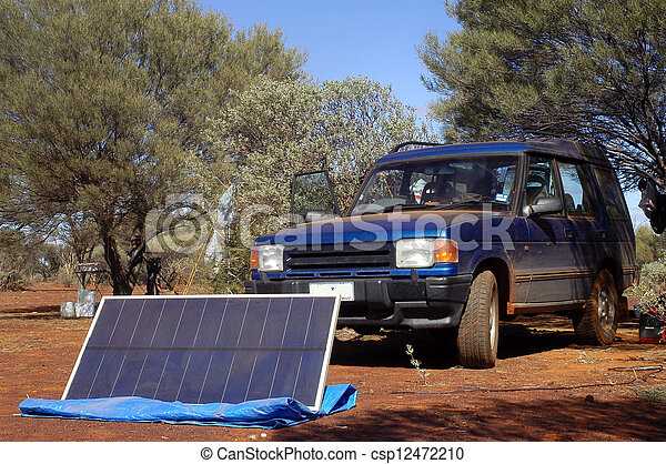 Camping in the bush - csp12472210