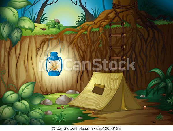 Camping in the jungle - csp12050133