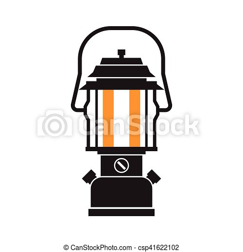 Vector Clipart Of Camping Lantern Or Gas Lamp Vintage