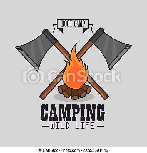 camping outdoor adventure logo - csp55591043