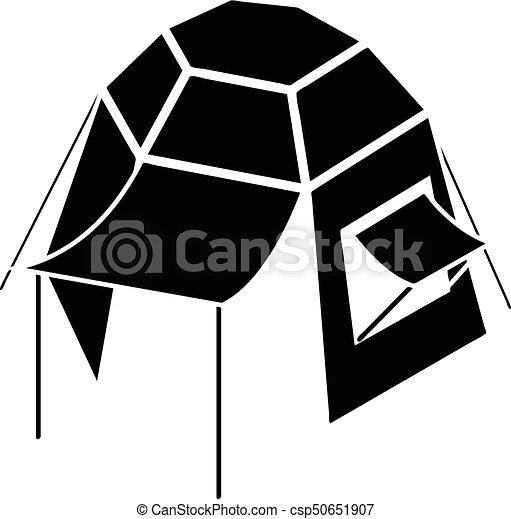 Camping Tent Icon Simple Style