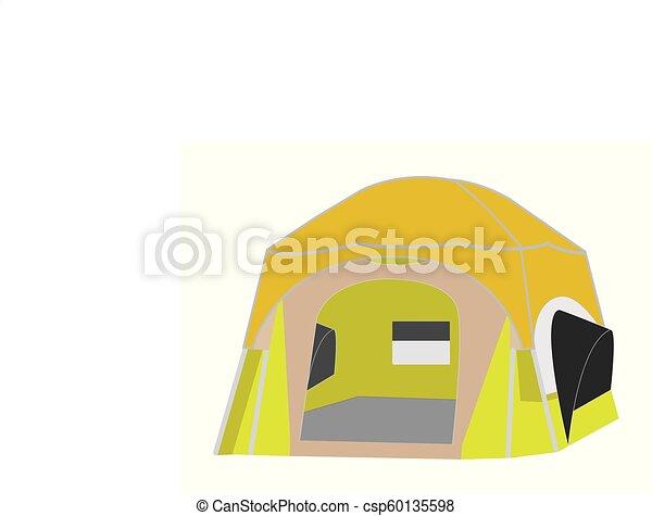 Camping tent vector - csp60135598