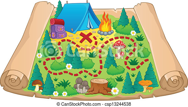 Camping theme map image 2 - csp13244538