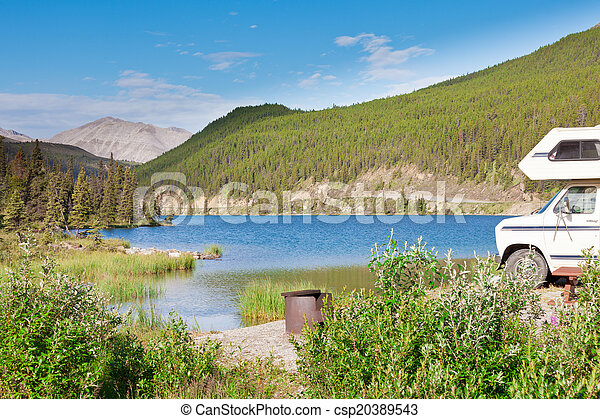 Camping van RV parks summit lake campground - csp20389543