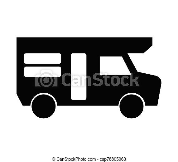 campista, ilustrado, fundo, ícone, vetorial, branca - csp78805063