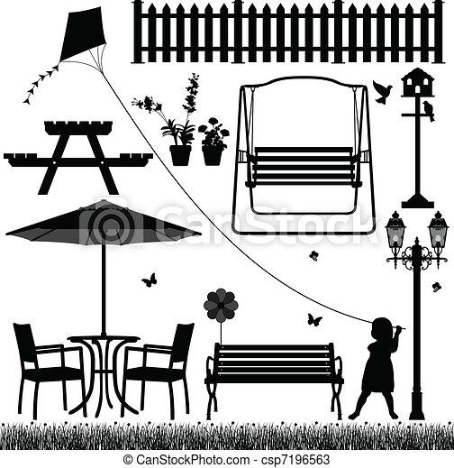 Parque de jardín al aire libre - csp7196563