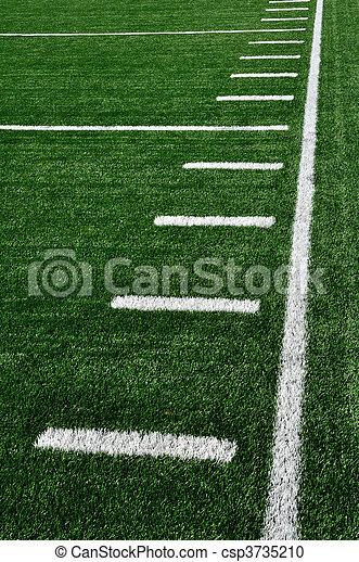 campo, americano, sideline, futebol - csp3735210