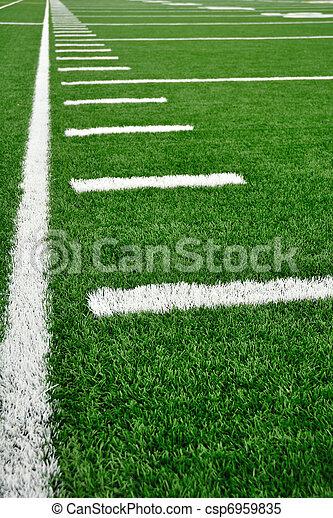 campo, americano, sideline, futebol - csp6959835