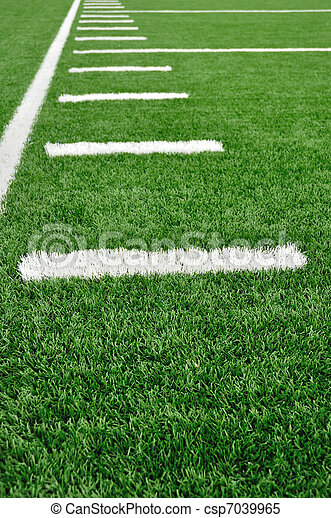 campo, americano, sideline, futebol - csp7039965