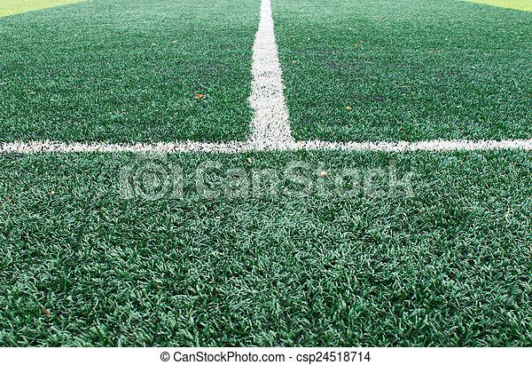 campo, branca, sideline, futebol - csp24518714