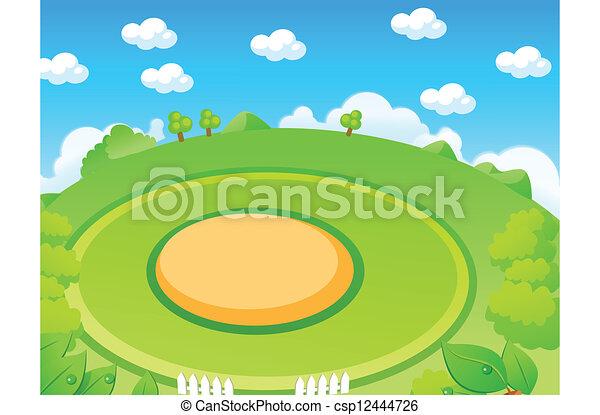 campo di gioco, paesaggio, verde - csp12444726