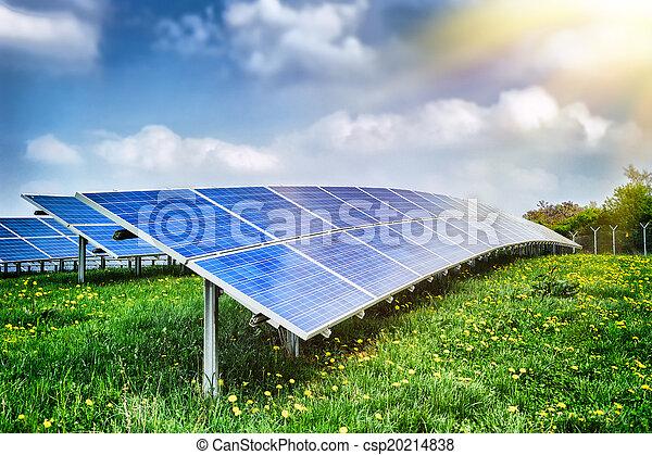 campo, energia, paisagem, solar - csp20214838