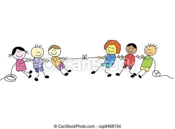 campo, feliz, dia, criança - csp8468154