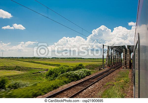 campo, ferrovia, orizzonte, va - csp21900695