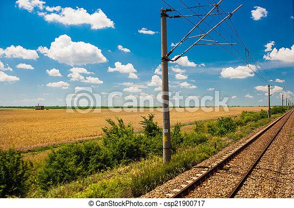 campo, ferrovia, orizzonte, va - csp21900717