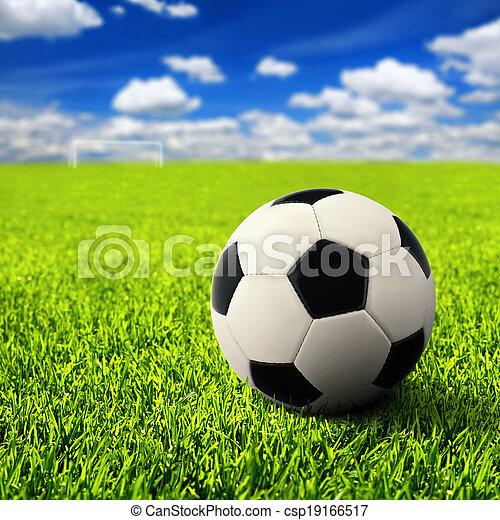 campo, futebol, vazio - csp19166517