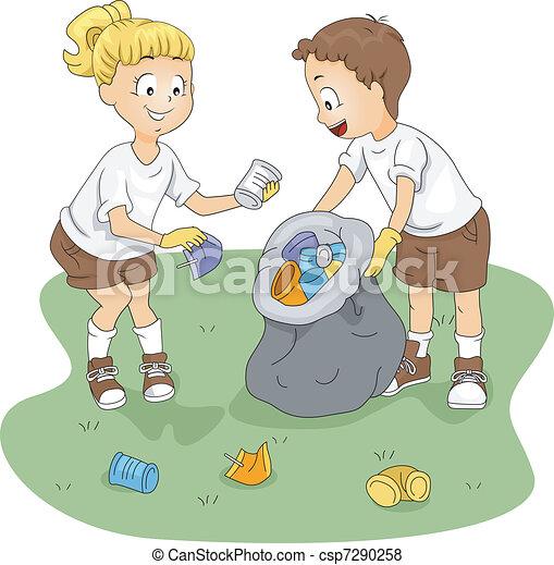 Limpieza de campamento - csp7290258