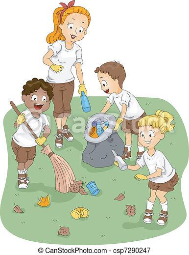 Limpieza de campamento - csp7290247
