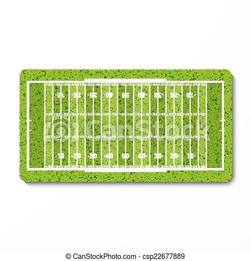 Campo de fútbol americano de hierba verde - csp22677889