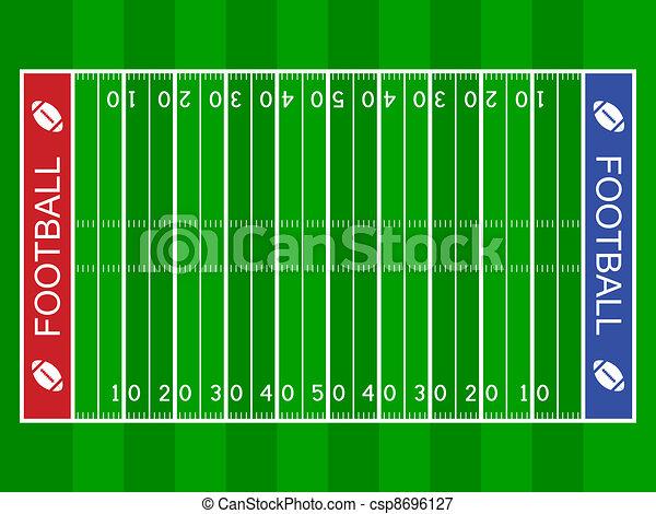 Campo de fútbol americano - csp8696127